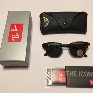 Ray Ban Clubmaster Model RB 3016 Polarized